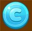青いコイン
