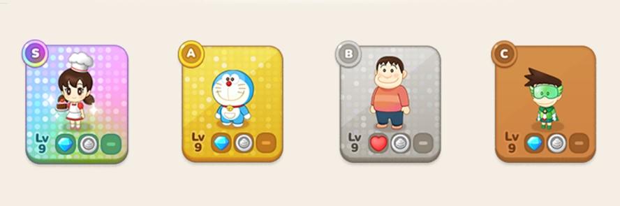 キャラクターカード4種類