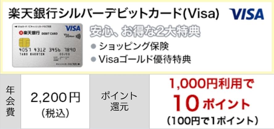 VISAシルバーデビットカード