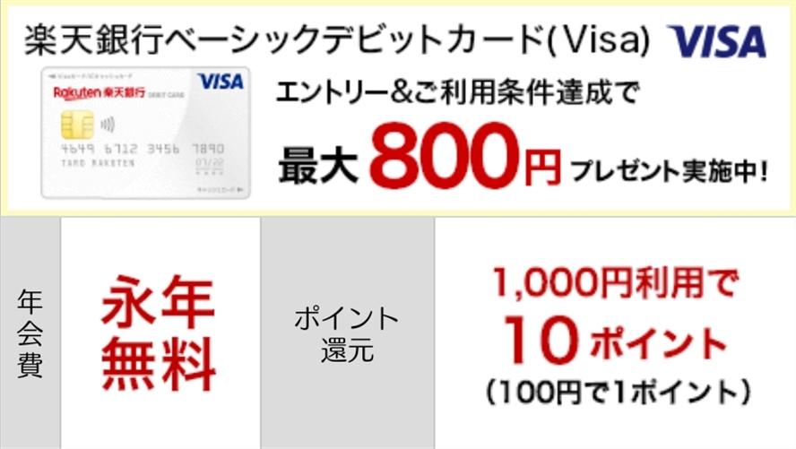 VISAベーシックデビットカード